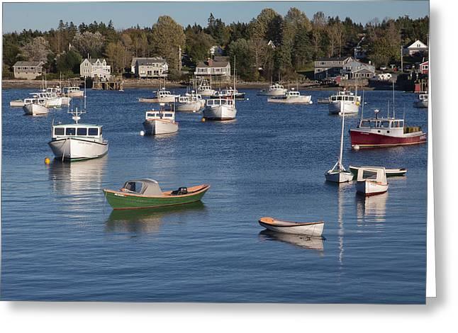 Portland Harbor Greeting Cards - Sleeping Boats Greeting Card by Jon Glaser
