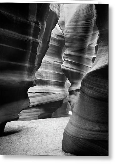 Slots Greeting Cards - Slot Canyon 3 Greeting Card by Mike McGlothlen
