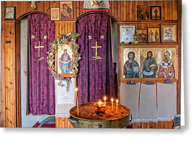 Altar Picture Greeting Cards - Small Church Greeting Card by Roy Pedersen