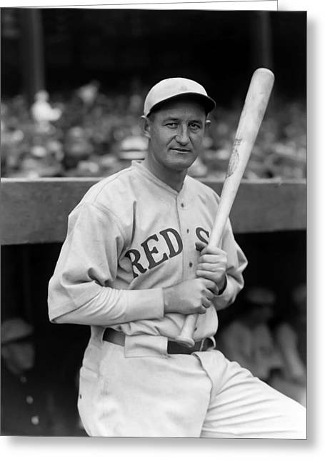 Boston Red Sox Greeting Cards - Smead P. Jolley Greeting Card by Retro Images Archive