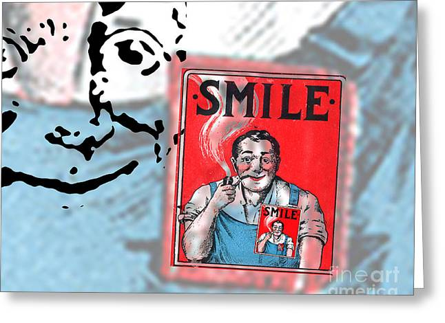 Overalls Greeting Cards - Smile Greeting Card by Edward Fielding