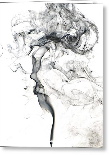 Turbulence Greeting Cards - Smoke From A Match Greeting Card by Scott Camazine