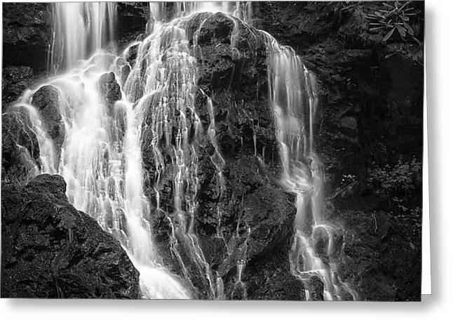 Smokey Waterfall Greeting Card by Jon Glaser