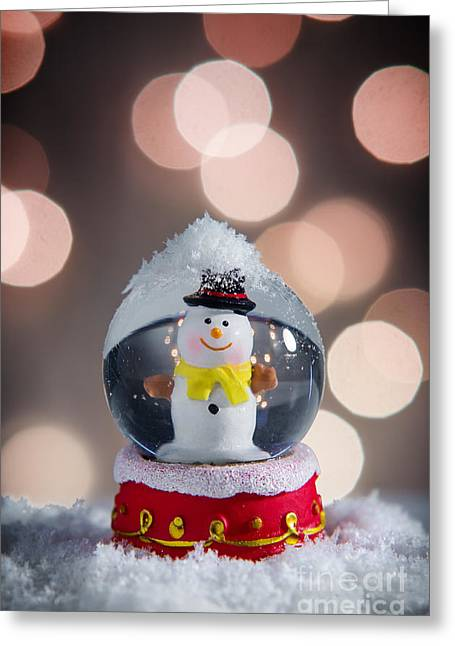 Spheres Greeting Cards - Snow Globe Greeting Card by Carlos Caetano
