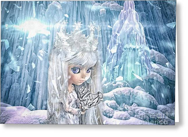 Ice-t Greeting Cards - Snow Queen Greeting Card by Mo T