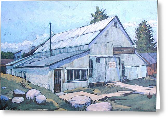 Nederland Paintings Greeting Cards - Snyders Garage Greeting Card by Al Hart