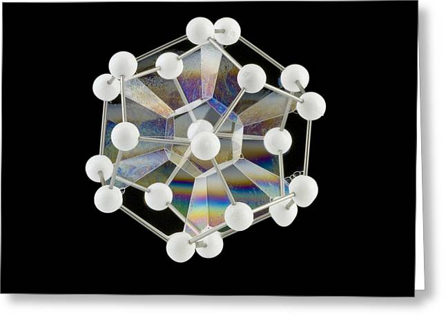 Dodecahedron Greeting Cards - Soap Bubbles On A Dodecahedral Frame Greeting Card by Paul Rapson