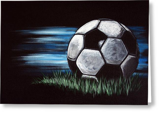 Soccer Ball Greeting Card by Dani Abbott