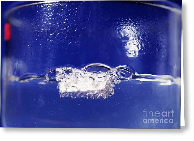 Fizzing Greeting Cards - Sodium Reacting With Water Greeting Card by Andrew Lambert Photography