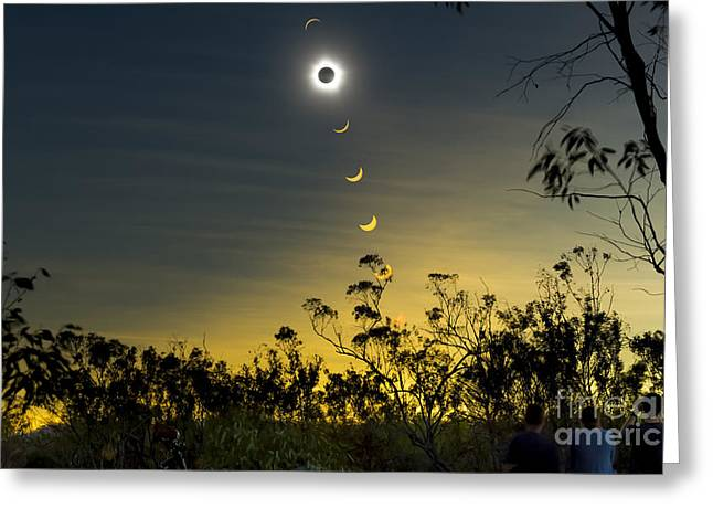 Solar Eclipse Greeting Cards - Solar Eclipse Composite, Queensland Greeting Card by Philip Hart
