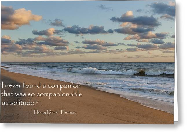 Henry David Thoreau Greeting Cards - Solitude Greeting Card by Bill  Wakeley