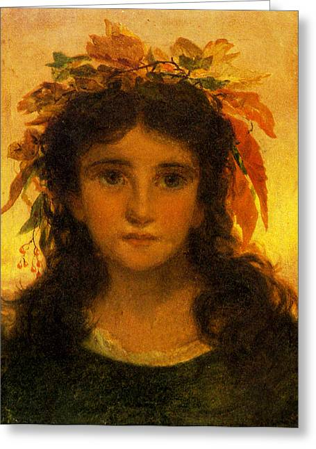 Young Teen Greeting Cards - Autumn Greeting Card by Sophie G Anderson
