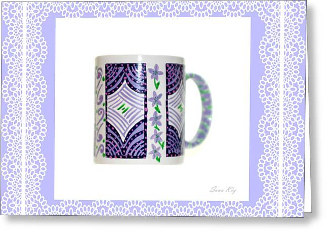 Christmas Greeting Glass Art Greeting Cards - Soul Inspirations Collection Greeting Card by Oksana Semenchenko