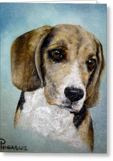 Soul Of  A Beagle Greeting Card by Beverly Pegasus