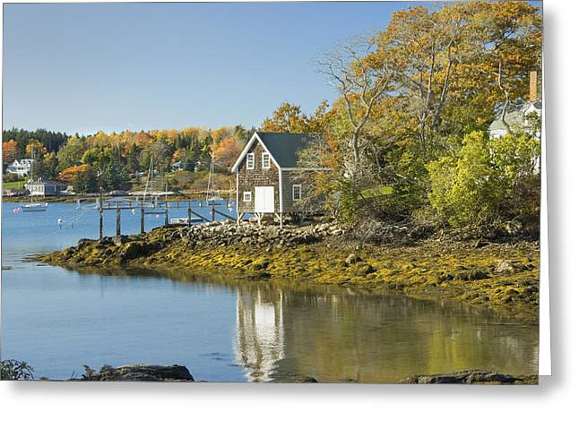 Maine Landscape Greeting Cards - South Bristol on the coast of Maine Greeting Card by Keith Webber Jr