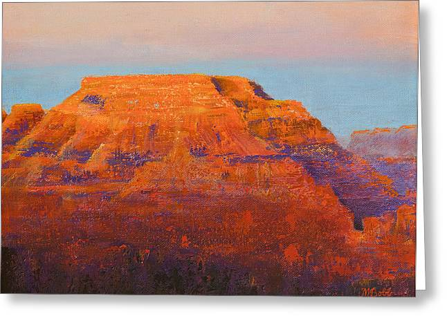 M Bobb Greeting Cards - South Rim Sunset Greeting Card by Margaret Bobb