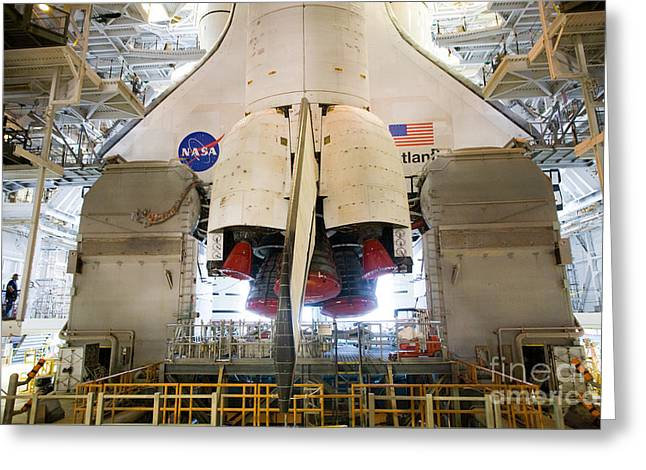 Nasa Space Program Greeting Cards - Space Shuttle Mission 135 Greeting Card by Chris Cook