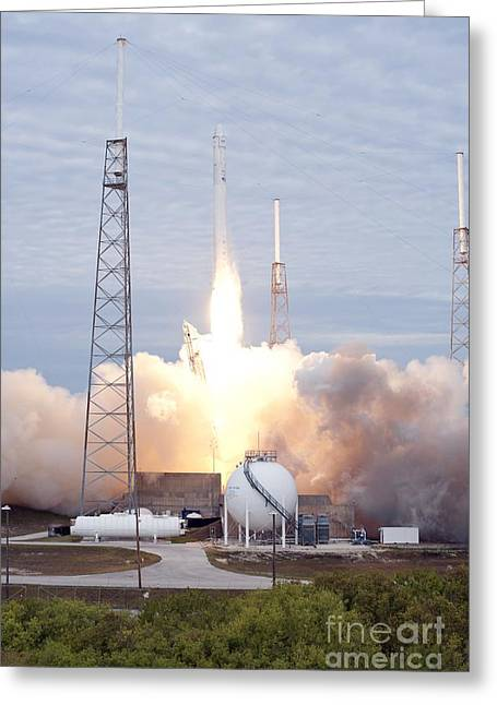Merlin Greeting Cards - Spacex Crs-2 Launch, March 2013 Greeting Card by Nasa