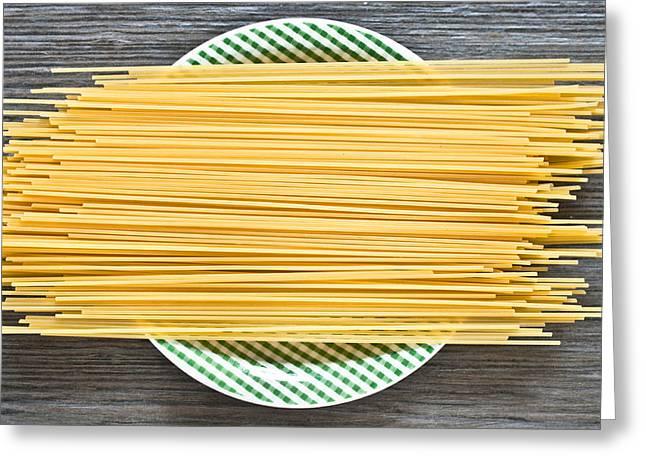 Spaghetti  Greeting Card by Tom Gowanlock