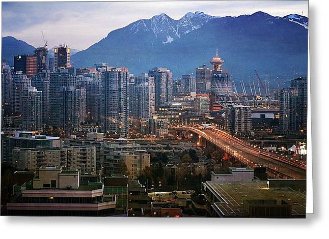 Vancouver Greeting Cards - Sparkle Greeting Card by Fraida Gutovich