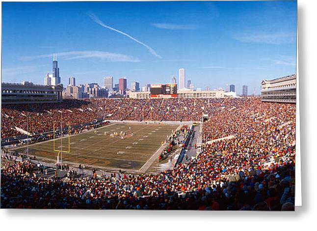 National Football League Greeting Cards - Spectators Watching A Football Match Greeting Card by Panoramic Images