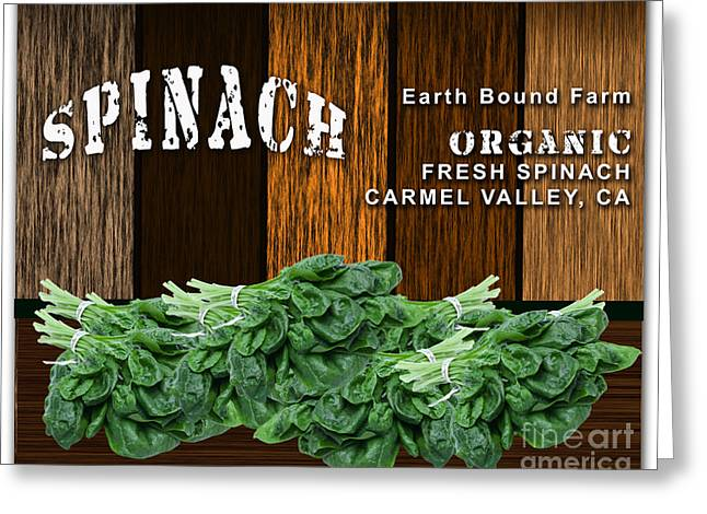 Restaurant Art Greeting Cards - Spinach Patch Greeting Card by Marvin Blaine