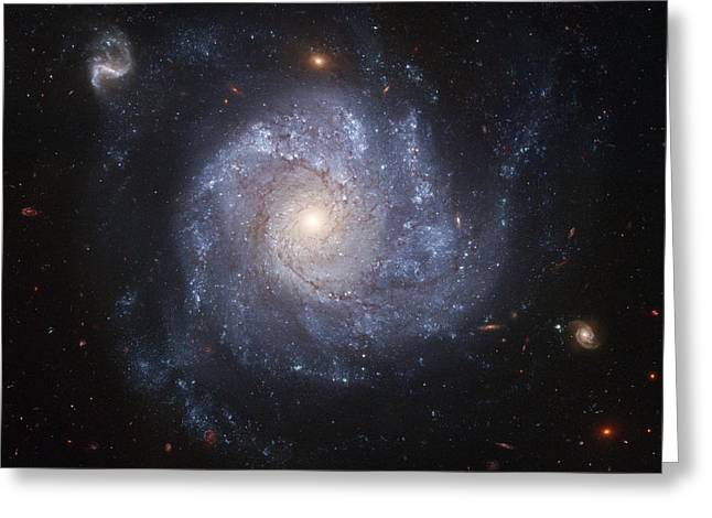 Interstellar Space Paintings Greeting Cards - Spiral Galaxy Greeting Card by Nasa