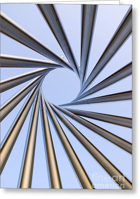 Installation Art Greeting Cards - Spiral Metal Sculpture At Fermilab Greeting Card by Mark Williamson