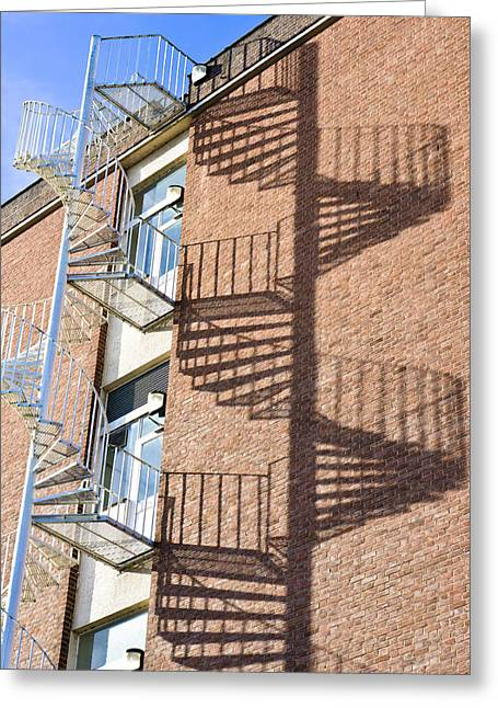 Rotate Photographs Greeting Cards - Spiral staircase Greeting Card by Tom Gowanlock