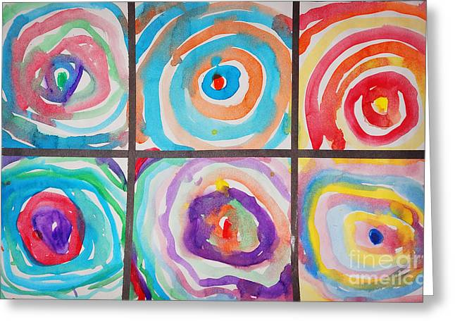 Geometrical Art Mixed Media Greeting Cards - Spirals Greeting Card by Celestial Images