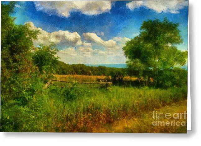 Split Rail Fence Greeting Cards - Split Rail Fence Greeting Card by Lois Bryan