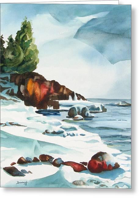 Splitrock Cove Greeting Card by Steve Brumbaugh