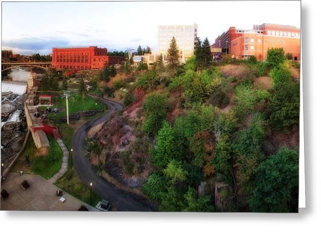 Spokane Greeting Cards - Spokane Falls Greeting Card by Dan Quam