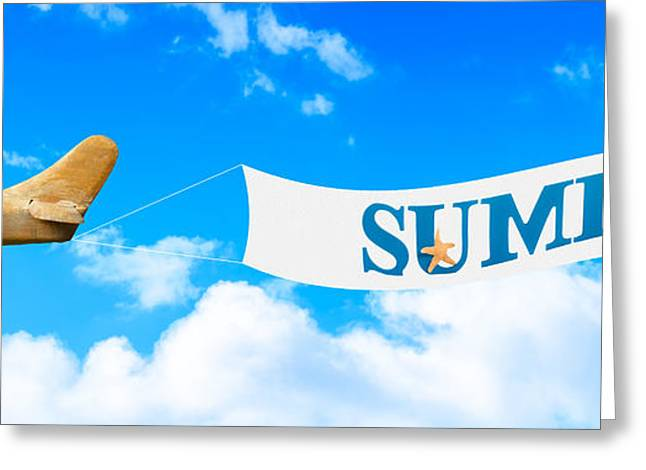 Vintage Greeting Cards - Summer Banner Greeting Card by Amanda And Christopher Elwell