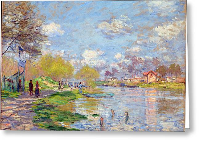 Spring By The Seine Greeting Card by Claude Monet