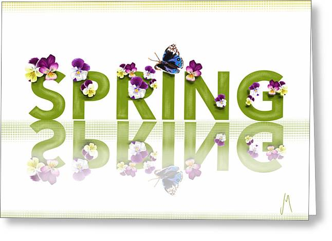 Spring Flowers Digital Art Greeting Cards - Spring Greeting Card by Veronica Minozzi