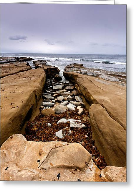 Tidepools Greeting Cards - Square Cove Greeting Card by Peter Tellone