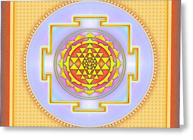 Energize Digital Greeting Cards - Sri Yantra Greeting Card by Dirk Czarnota