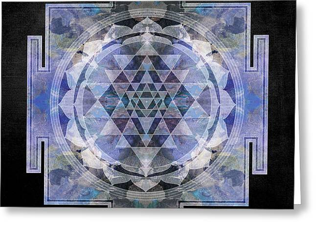 Buddhism Digital Art Greeting Cards - Sri Yantra  Greeting Card by Filippo B