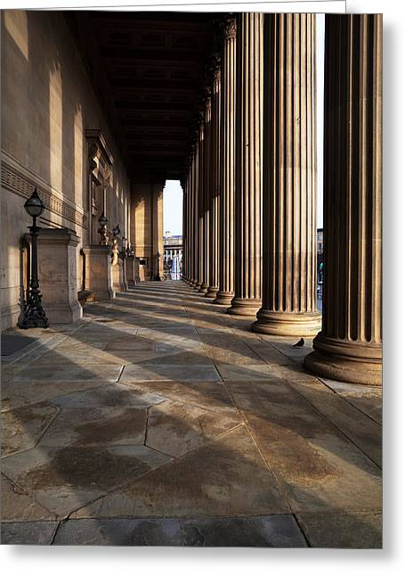 Classical Columns Greeting Cards - St Georges Hall, Liverpool, Merseyside Greeting Card by Panoramic Images