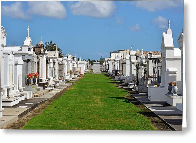 Resting Greeting Cards - St Louis Cemetery No 3 New Orleans Greeting Card by Christine Till