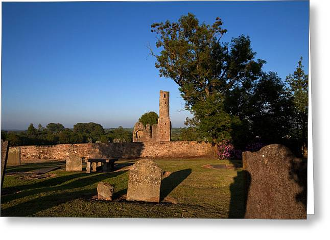 Early Christian Greeting Cards - St Marys Augustinian Abbey, Ferns Greeting Card by Panoramic Images