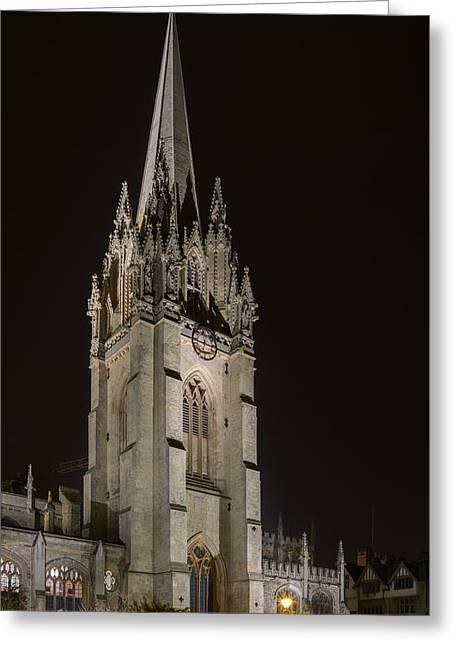 Exeter Hall Greeting Cards - St Marys Church Greeting Card by Umar Cheema
