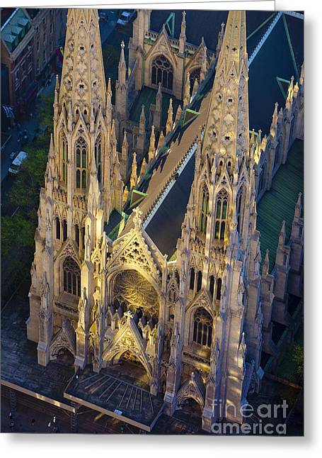 5th Ave Greeting Cards - St. Patricks Greeting Card by Brian Jannsen