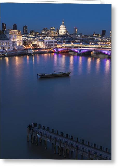 Place Of Business Greeting Cards - St. Paul_s Cathedral And Blackfriars_ Greeting Card by Charles Bowman