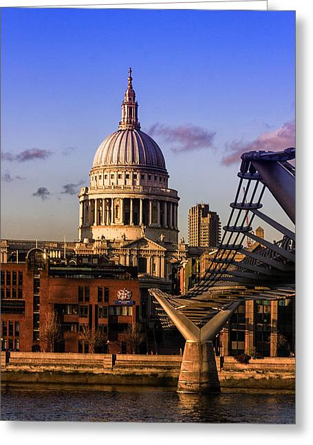 Famous Bridge Greeting Cards - St Pauls Cathedral London Greeting Card by Ian Hufton