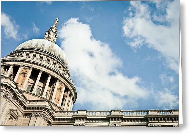 Historic England Greeting Cards - st Pauls Cathedral Greeting Card by Tom Gowanlock