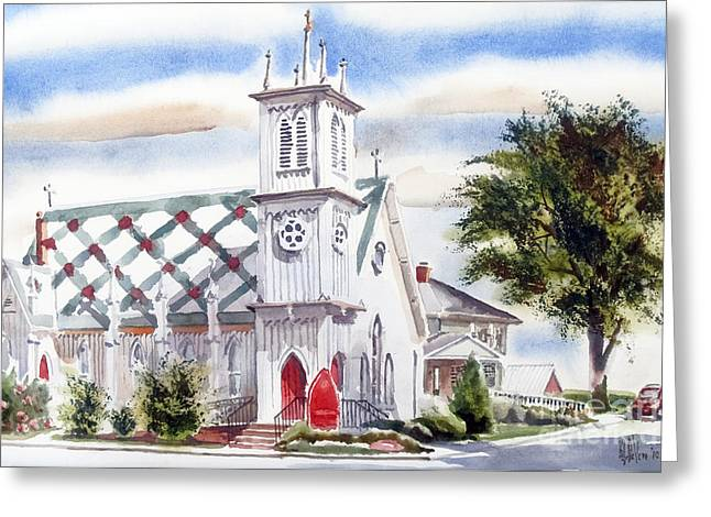 Episcopalian Greeting Cards - St Pauls Episcopal Church  Greeting Card by Kip DeVore