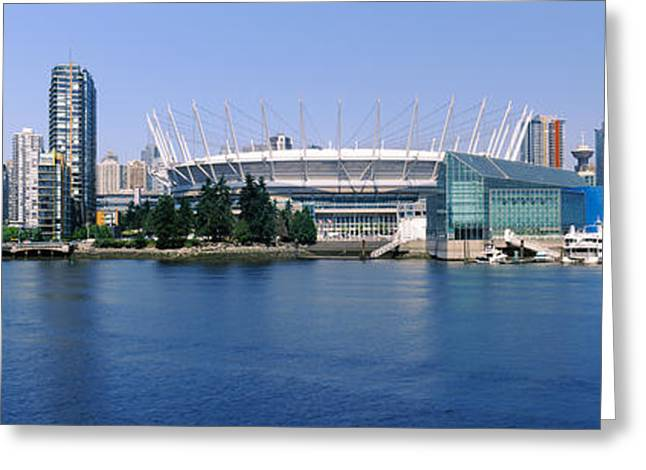Vancouver Greeting Cards - Stadium At The Waterfront, Bc Place Greeting Card by Panoramic Images