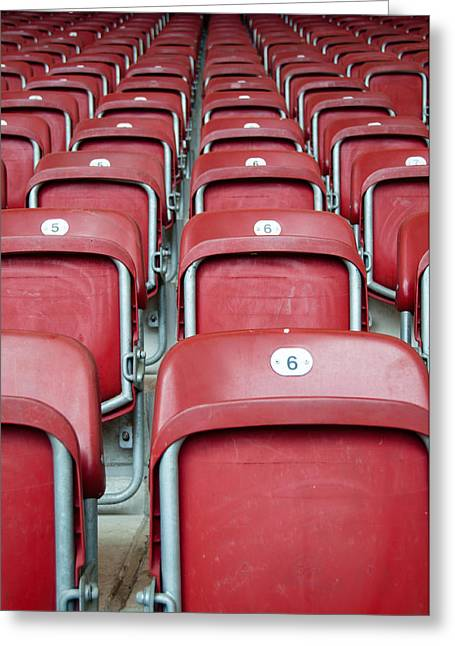 Open Air Theater Greeting Cards - Stadium Seats Greeting Card by Frank Gaertner